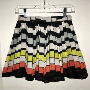 Willoughby skirt, geometric pattern